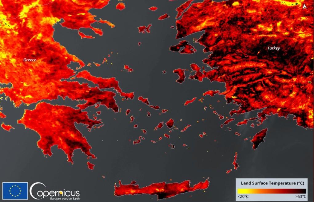 Καύσωνας – Μέχρι 53 βαθμούς η θερμοκρασία εδάφους στην Ελλάδα