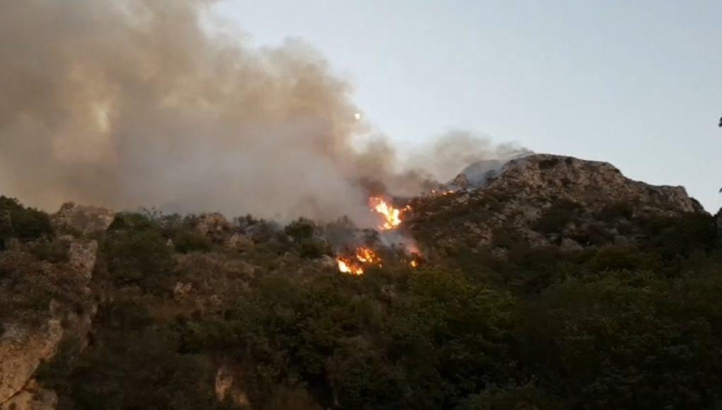 Εκκένωση οικισμών στην Καστάνια Λακωνίας – Φωτιά καίει δασική έκταση