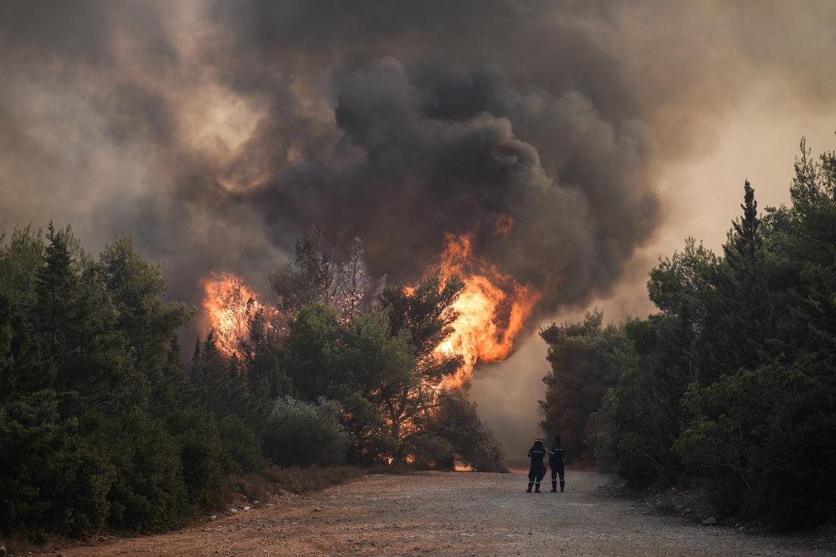 Σε πύρινη «πολιορκία» η χώρα - Μεγάλες φωτιές από Αττική μέχρι Μεσσηνία και  Εύβοια - Μάχη με τις αναζωπυρώσεις   in.gr