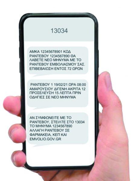 Κοροναϊός – Τα SMS αυξάνουν τα ραντεβού για τους εμβολιασμούς