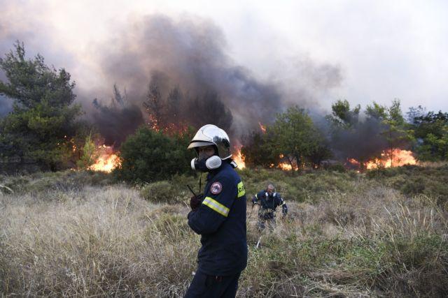 Φωτιά στη Βαρυμπόμπη – Νέος συναγερμός στην Πυροσβεστική – Έντονες αναζωπυρώσεις στις Αδάμες
