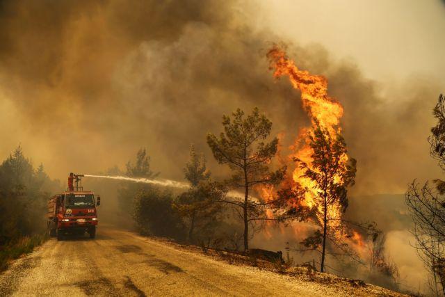 Τουρκία – 180 δασικές φωτιές σε μία εβδομάδα – Στα όρια θερμοηλεκτρικού σταθμού οι φλόγες