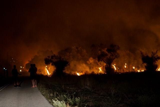 Φωτιά στη Αρχαία Ολυμπία – Μια ανάσα μακριά από τον αρχαιολογικό χώρο οι φλόγες – Ανοίγονται αντιπυρικές ζώνες