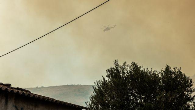 Φωτιά στην Εύβοια – Οι φλόγες περικύκλωσαν βενζινάδικο