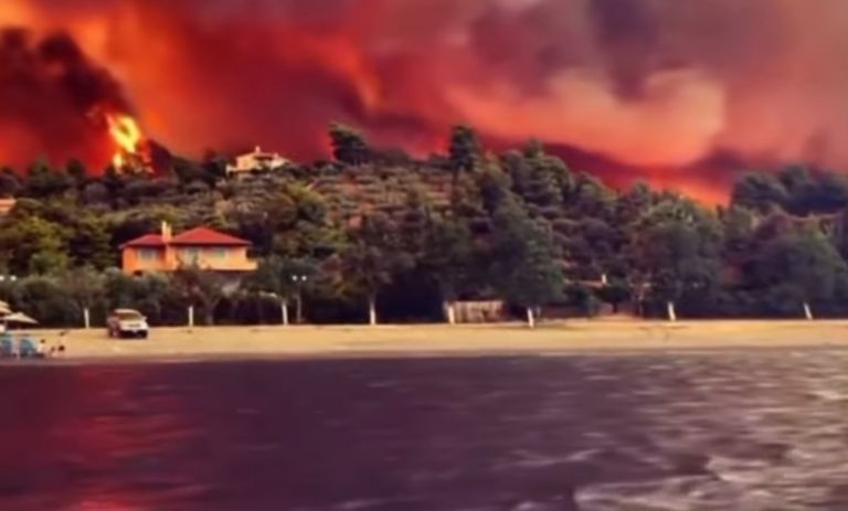 Fire front in Evia out of control – More villages are being evacuated