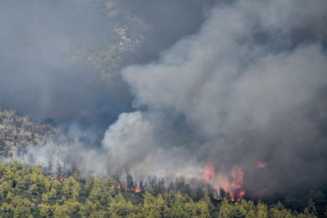 Μεγάλη φωτιά στη Ζάκυνθο – Κινητοποίηση εναέριων μέσων