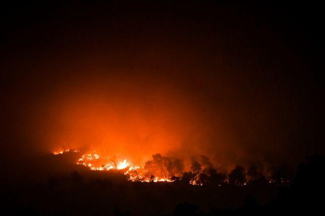 Φωτιά στα Βίλια – 299 πυροσβέστες με 61 Ρουμάνους και δεκάδες οχήματα επιχειρούν για την κατάσβεση