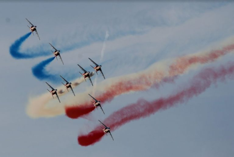 Rafale Solo Display and the French Acrobatic Squadron Patrouille de France at Athens Flying Week