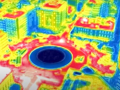 Καύσωνας – Πήραν «φωτιά» τα τσιμέντα στην Αθήνα – Εικόνες με θερμική κάμερα από ψηλά