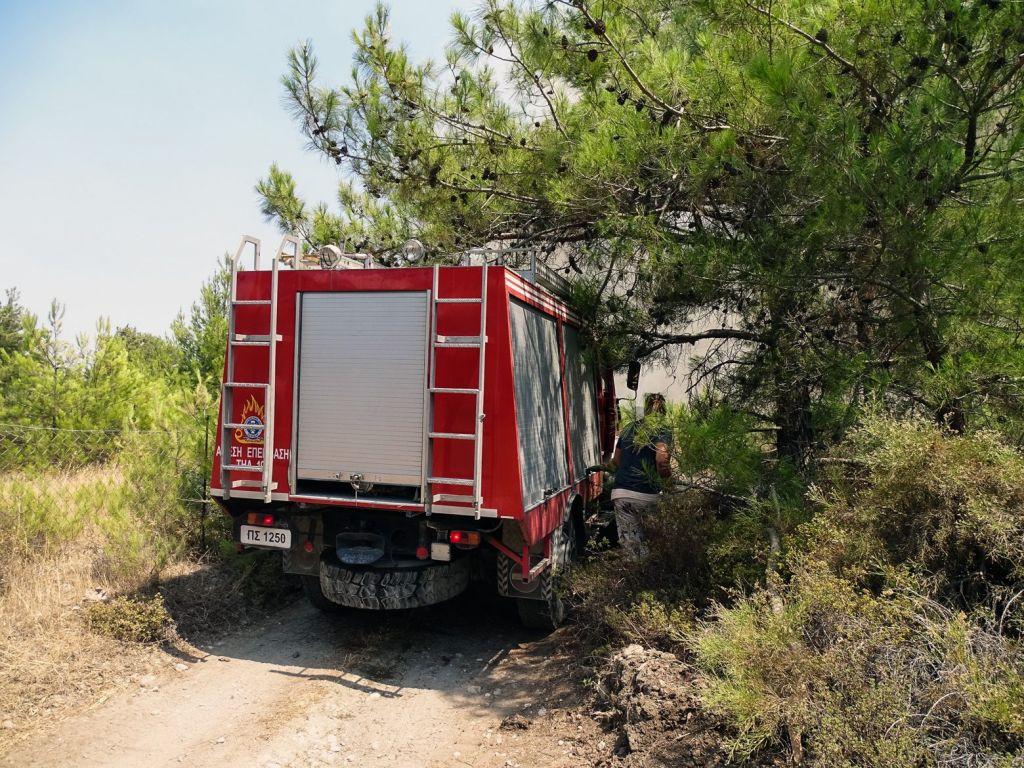 Λακωνία – Καλύτερη η κατάσταση με τη φωτιά στην περιοχή Καστάνια