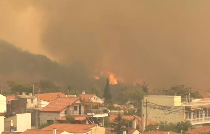 Vilia – Ravaged by wildfire for a fourth day