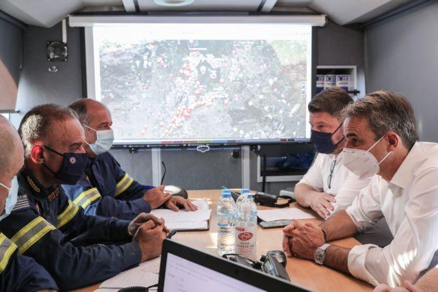 Στο Κέντρο Επιχειρήσεων της Πυροσβεστικής μεταβαίνει ο Μητσοτάκης