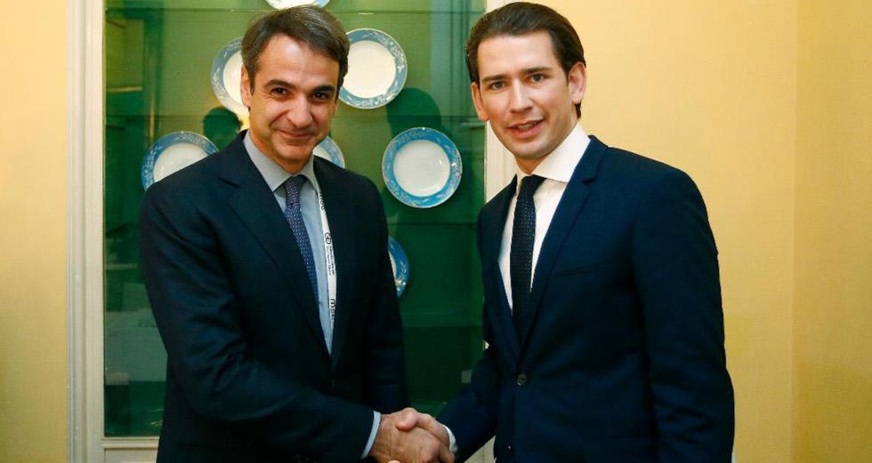Συγχαρητήρια Μητσοτάκη στον Καγκελάριο της Αυστρίας, Σεμπάστιαν Κουρτς, για την επανεκλογή του
