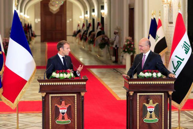 Μακρόν – Η Γαλλία θα παραμείνει στρατιωτικά στο Ιράκ, ό,τι κι αν αποφασίσουν οι ΗΠΑ