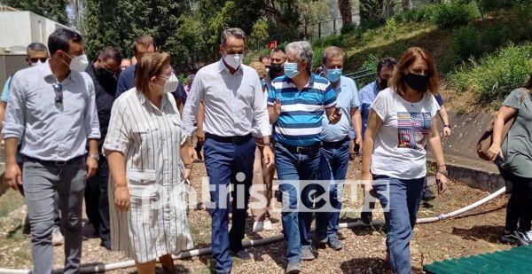 Fire in Ilia – PM Kyriakos Mitsotakis in fire-affected Ilia