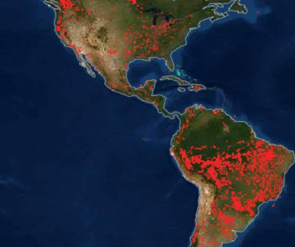 Εικόνες από τη NASA – Στις φλόγες η υφήλιος