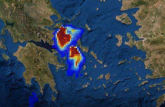 Γέμισε η Ελλάδα καπνούς από τις φωτιές – Καταστροφή στην Εύβοια