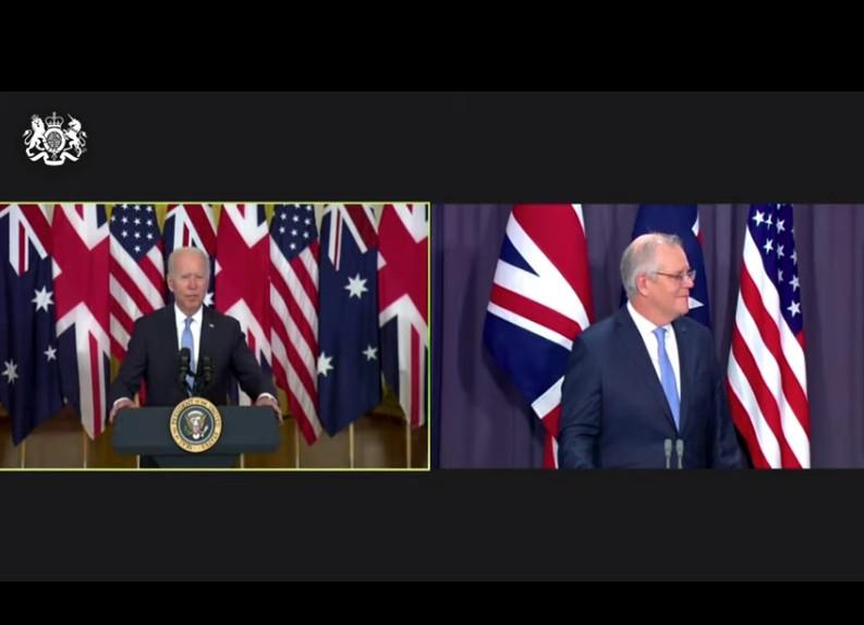 «Τριπλή συμμαχία» Μπάιντεν, Τζόνσον και Μόρισον για θέματα «εθνικής ασφάλειας» – Η ομάδα ΑUKUS