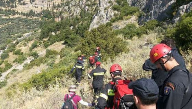 Παρνασσός – Σε εξέλιξη επιχείρηση απεγκλωβισμού πέντε ορειβατών από φαράγγι