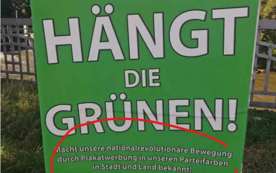 Γερμανία – Απαγορεύτηκε αφίσα ναζιστών με επιγραφή «Κρεμάστε τους Πράσινους»