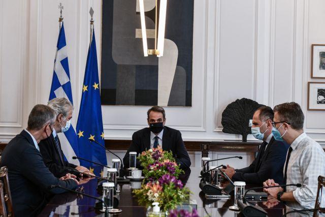 Μητσοτάκης – Θα οικοδομήσουμε μία υποδομή που θα γίνει πρότυπο στην Ευρώπη – Σύσκεψη με Στυλιανίδη και Τουρνά