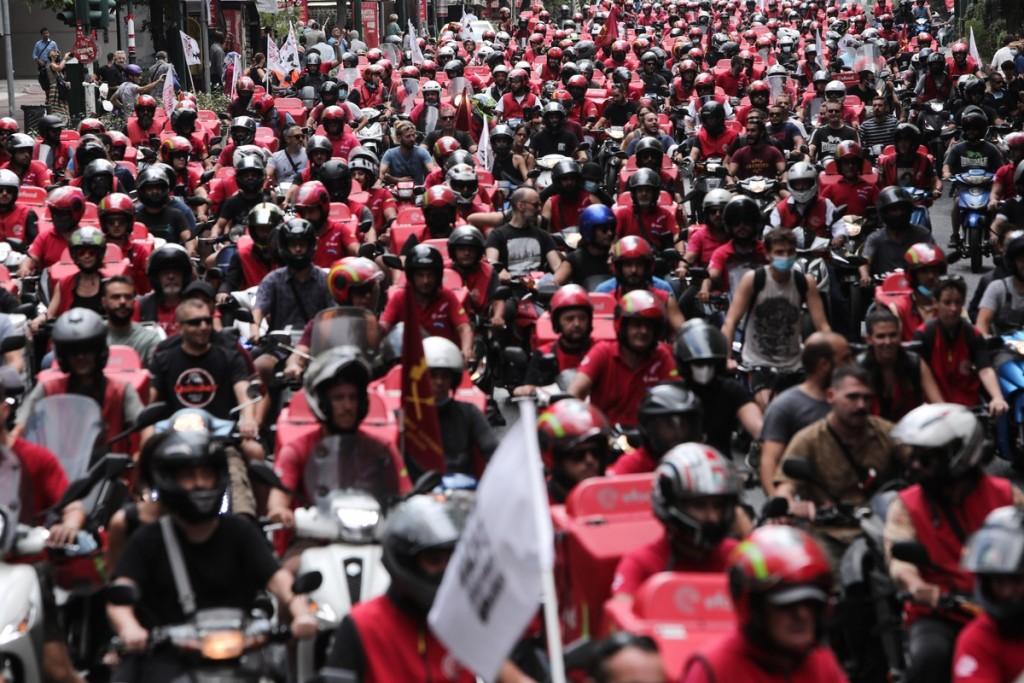Efood – Κλιμακώνουν τις κινητοποιήσεις τους οι διανομείς – «Κοκκίνησε» και πάλι η Αθήνα
