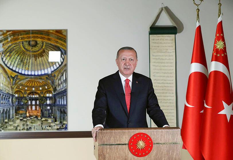 Ερντογάν – Αποδώσαμε την Αγία Σοφία «στους ιδιοκτήτες της από την εποχή του Πορθητή»