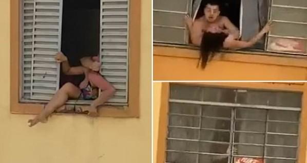 Σκληρές εικόνες – Έγκυος προσπαθεί να πηδήξει από το παράθυρο για να γλιτώσει από το τέρας- σύζυγό της