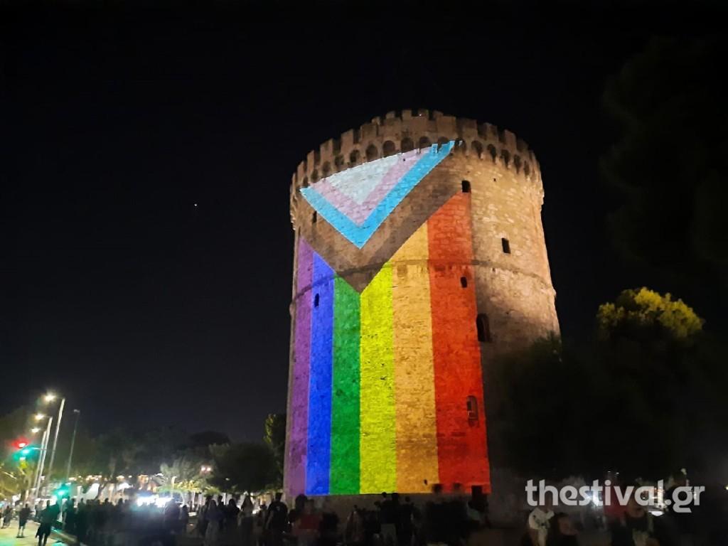Θεσσαλονίκη – Στα χρώματα του ουράνιου τόξου με αφορμή το Pride ο Λευκός Πύργος