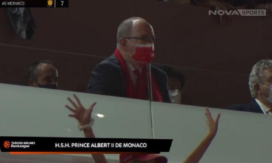 Βλέπει το Μονακό – Παναθηναϊκός ο Πρίγκηπας Αλβέρτος