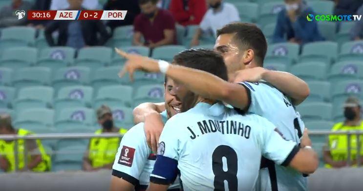 Η Πορτογαλία «καθάρισε» σε πέντε λεπτά το Αζερμπαϊτζάν (2-0)
