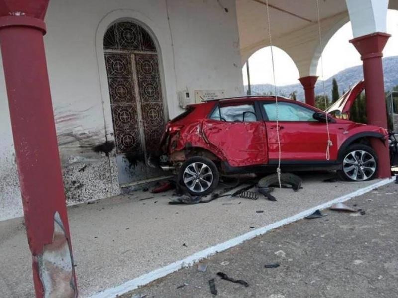 Κρήτη – Σοκαριστικό τροχαίο για 28χρονο – Το αυτοκίνητό του «καρφώθηκε» πάνω στη Μονή Κρουσταλένιας