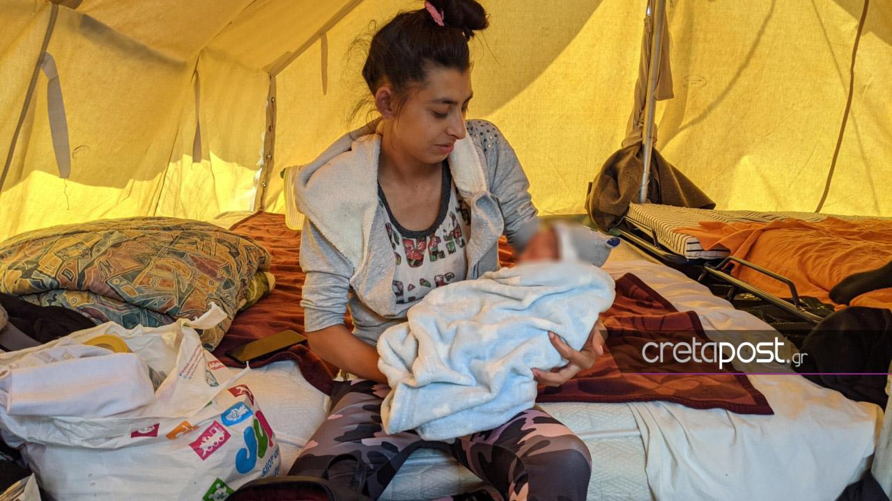 Σεισμός στην Κρήτη – Συγκίνηση για το μόλις 10 ημερών μωρό που ζει σε σκηνή