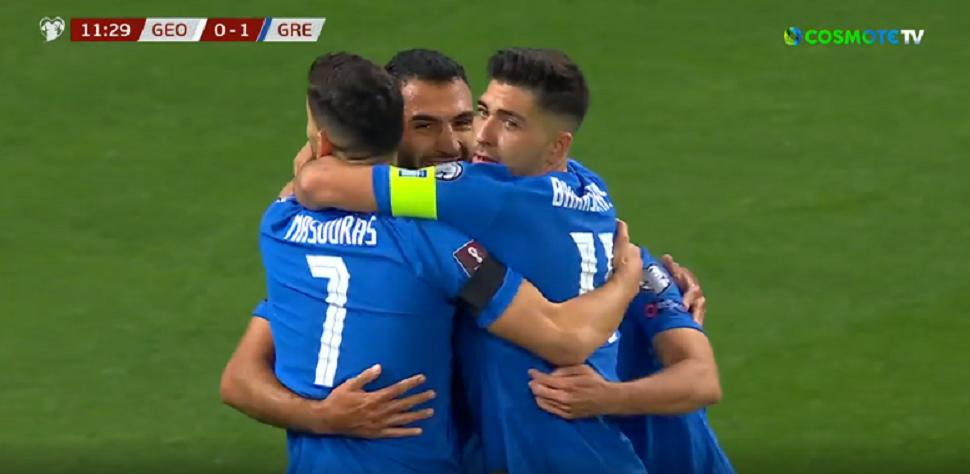 Η Ελλάδα σκόραρε με τον Παυλίδη αλλά το γκολ ακυρώθηκε μέσω VAR