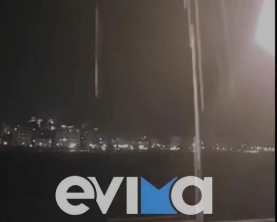 Κακοκαιρία – Σφοδρή καταιγίδα στη Χαλκίδα